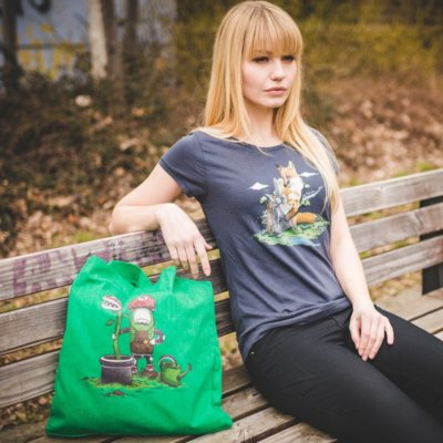 Robert Richter Green Thumb Recycled Organic Fashion Bag Judy