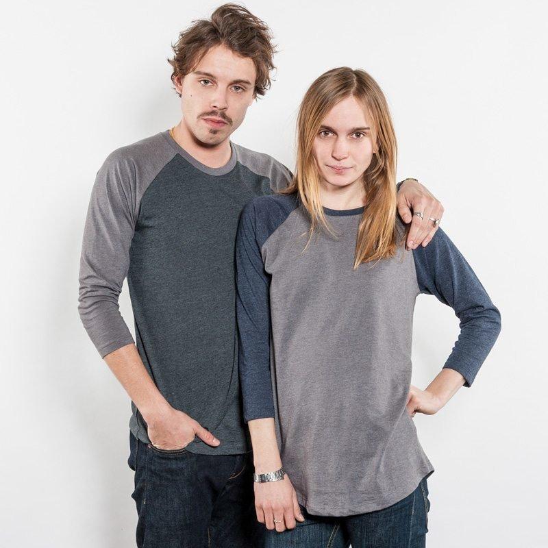 Salvage SA22 Unisex Recycled Organic Baseball T-Shirt Luise und Christian