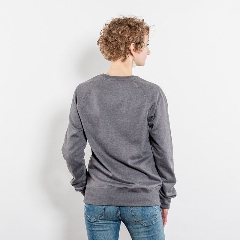 Salvage SA40 Unisex Recycled Organic Sweatshirt melange grey