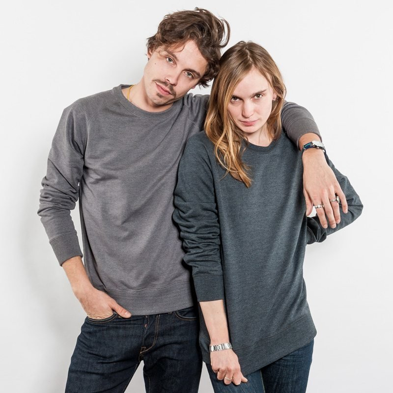 Salvage SA40 Unisex Recycled Organic Sweatshirt Luise und Christian