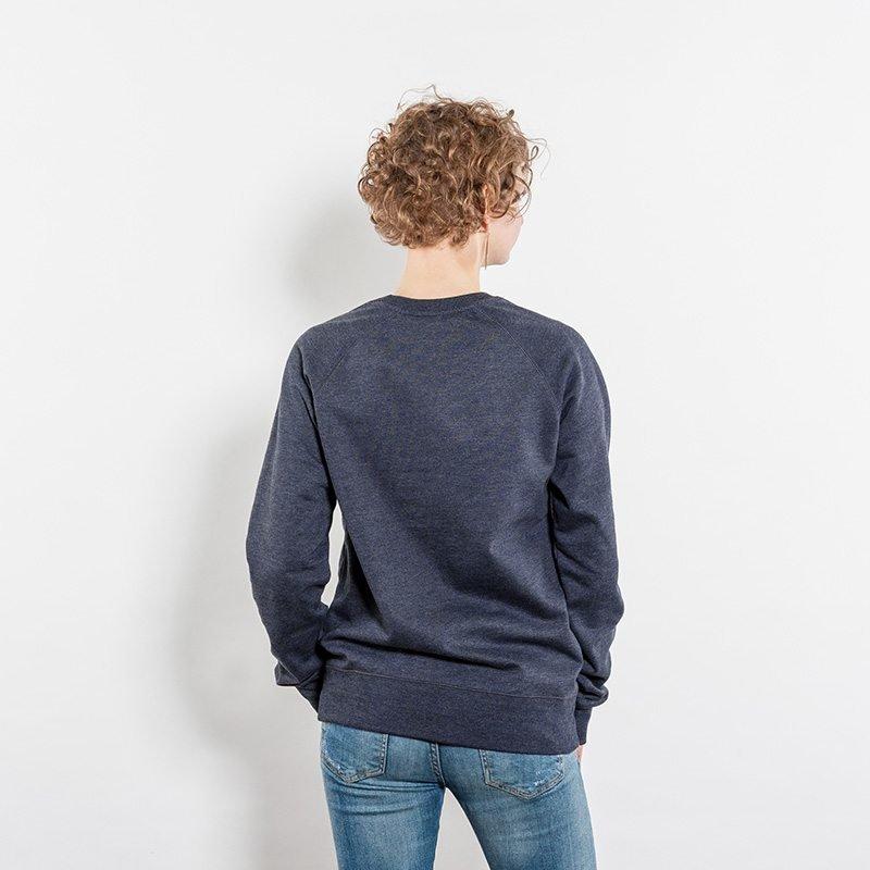 Salvage SA40 Unisex Recycled Organic Sweatshirt melange navy