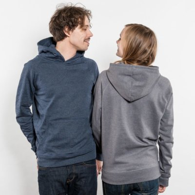 Salvage SA41P Unisex Recycled Organic Hooded Sweatshirt Luise und Christian