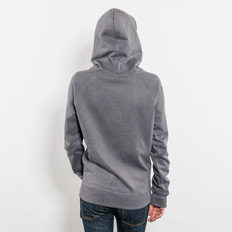 Salvage SA41P Unisex Recycled Organic Hooded Sweatshirt Rear View