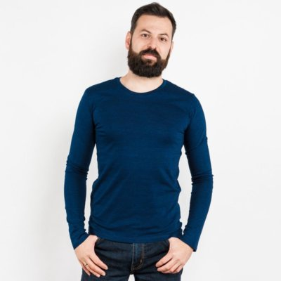 Mens Organic Denim Cotton Longsleeve T-Shirt