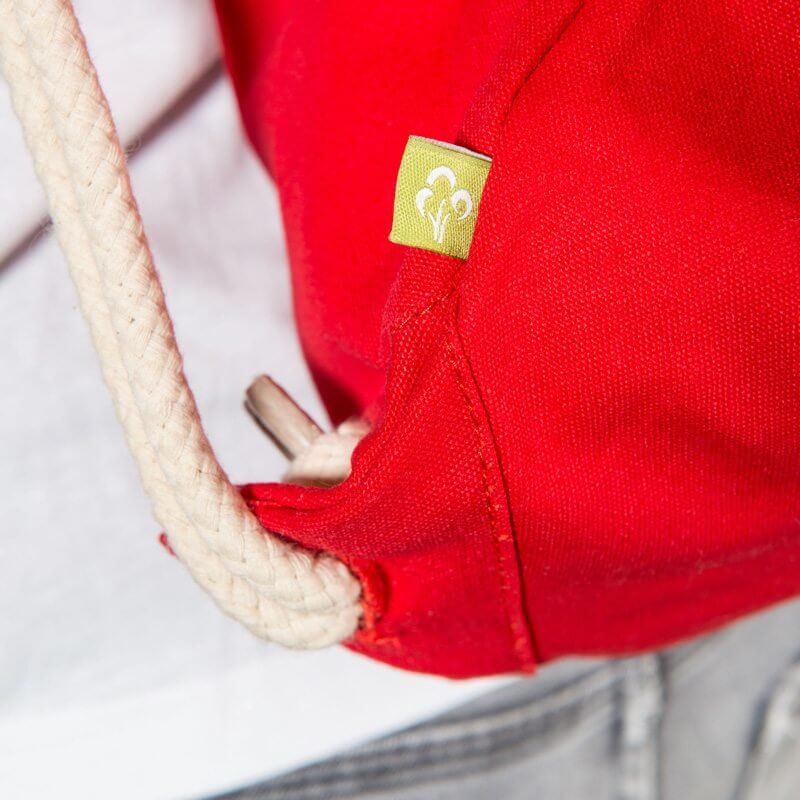 Westford Mill WM810 EarthAware™ Organic Gymsac - red - Detail 1