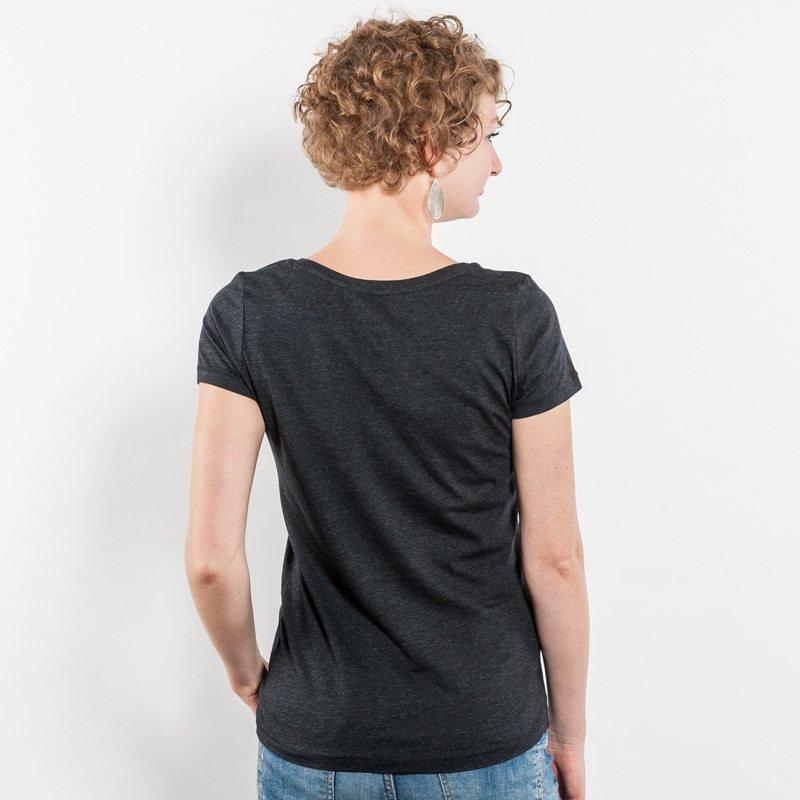 Stella Loves Ladies Lightweight Organic Cotton T-Shirt - Jule Back heather black denim