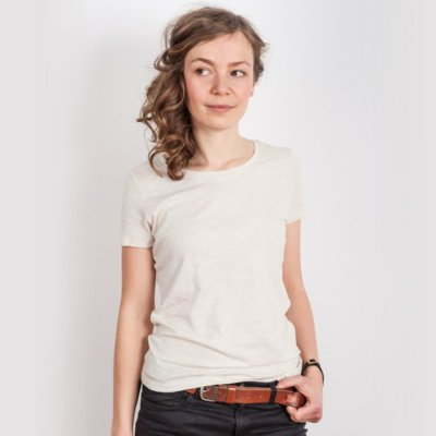 Stella Loves Ladies Lightweight Organic Cotton Slub T-Shirt - Hilde Front