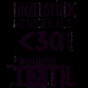 Einzelstück für weniger als 30 € inklusive Textil
